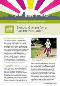 Download Electric Cycling for an Ageing Population briefing