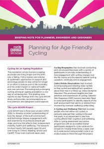 Download Planning for Age Friendly Cycling briefing